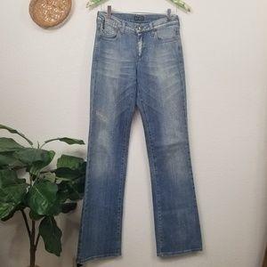 Armani Jeans straight leg lightly distressed 27